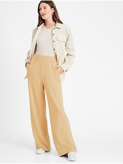 Baby Terry Wide-Leg Lounge Pant