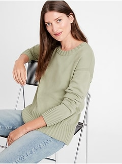 Relaxed Crew-Neck Sweater
