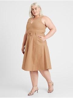 Canvas V-Neck Dress