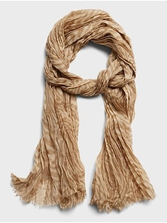 Crinkled Layering Scarf