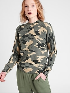 Petite Aire Camo Sweater