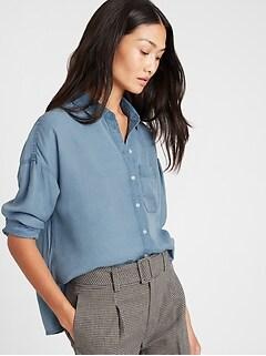Petite High-Low Shirt