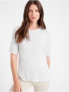 Petite Threadsoft Elbow-Sleeve T-Shirt
