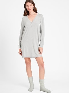 Petite Henley Nightgown