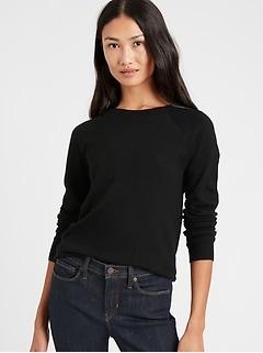 Petite Seamless Merino Crew-Neck Sweater in Responsible Wool