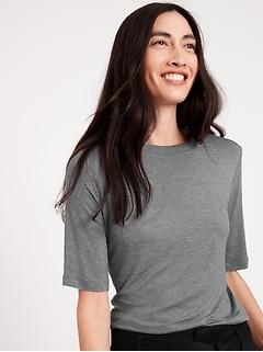 Threadsoft Elbow-Sleeve T-Shirt