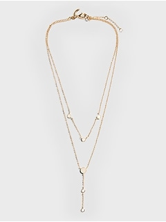 Delicate Double Layer Y-Necklace