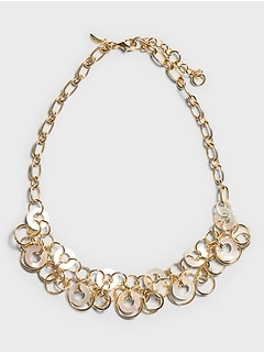 Mother of Pearl Ring Necklace