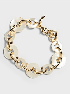 Mother of Pearl Chain Bracelet
