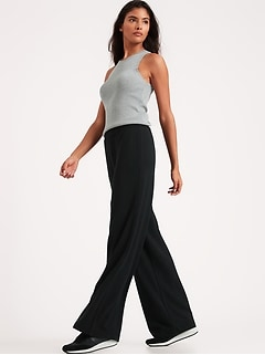 Petite Baby Terry Wide-Leg Lounge Pant