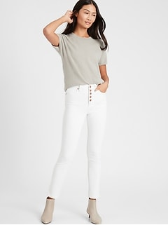 High-Rise Slim Button-Fly Jean