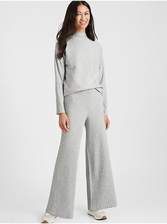 Petite Ribbed Sweater Pant