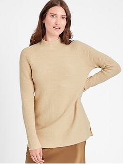 Petite Mock-Neck Sweater Tunic