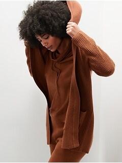 Chandail cardigan en laine mérinos lavable à la machine