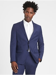 Slim Italian Wool Suit Jacket