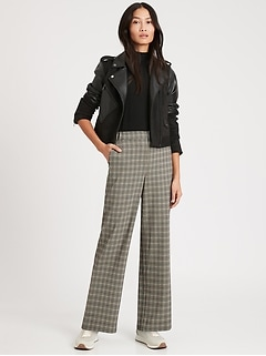 High-Rise Wide-Leg Pant with Elastic Sides