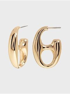 Buttonhole Stud Earrings