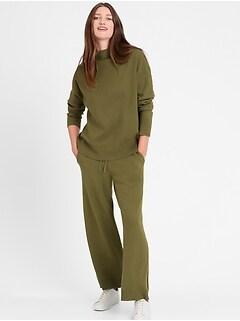 Petite Wide-Leg Sweater Pant