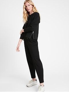Petite Scuba-Knit Side-Zip Sweatshirt