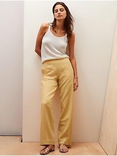 Wide-Leg TENCEL™-Linen Pull-On Pant