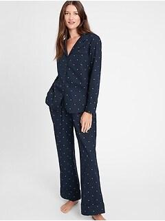 Petite Organic Cotton Pajama Pant Set