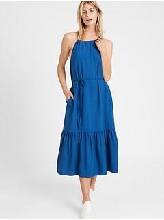 Petite Halter Midi Dress