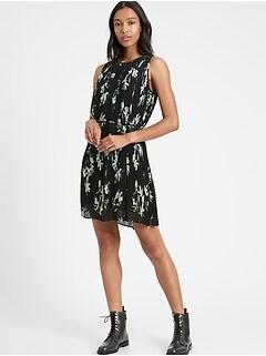 Petite Pleated Mini Dress