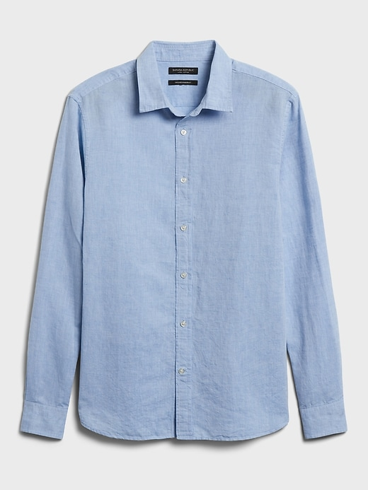 Untucked Standard-Fit Linen-Cotton Shirt
