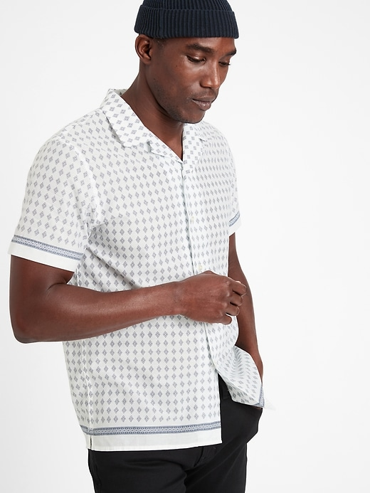 Slim-Fit Cotton Resort Shirt
