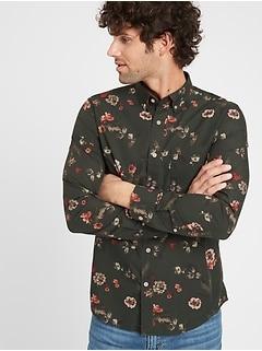Untucked Slim-Fit Organic Luxe Poplin Shirt