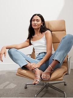 High-Rise Slim Jean with Split Hem
