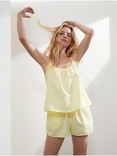 Linen-Cotton Pajama Short Set