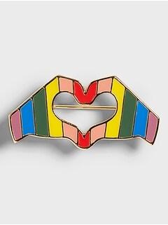 Pride Heart Brooch