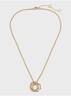 Bamboo Ring Necklace