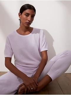 Petite UV Resistant Short-Sleeve Sweater