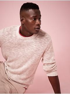 Cotton-Linen Blend Sweater