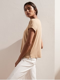 Threadsoft Scoop-Neck T-Shirt