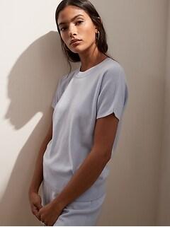 Cashmere Short-Sleeve Sweater