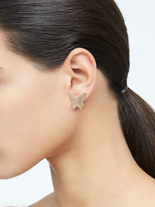 Butterfly Pavé Stud Earrings