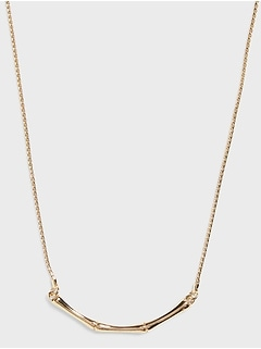 Bamboo Pendant Necklace