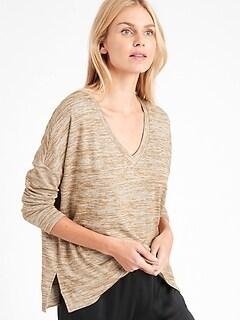 Haut décontracté en tricot moelleux