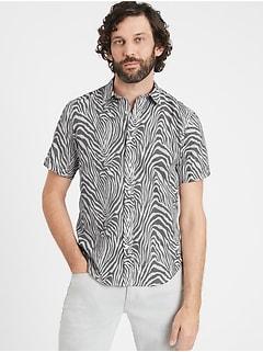 Untucked Slim-Fit Cotton Shirt