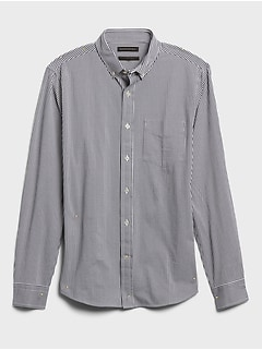 Untucked Slim-Fit Soft Knit Shirt