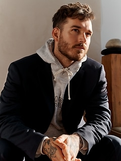 Standard Solid Italian Wool Suit Jacket