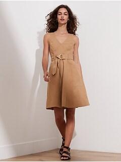 Petite Denim V-Neck Dress