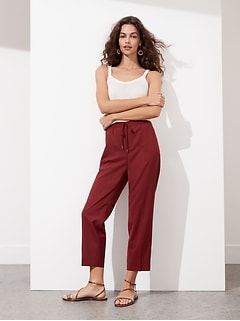 Washable Wool-Blend Pull-On Pant