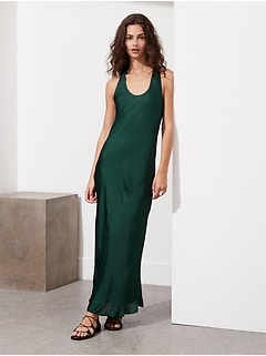 Bias-Cut Satin Slip Dress