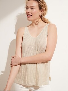 Recycled Linen Sweater Tank