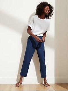 Petite Linen-Cotton Easy Jean