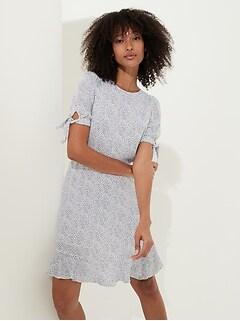 Petite Puff-Sleeve Mini Dress